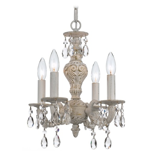 Crystorama Lighting Crystorama Lighting Paris Market Antique White Crystal Chandelier 5024-AW-CL-S