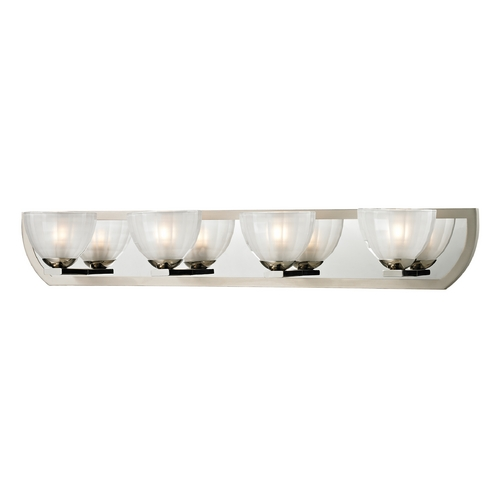 Elk Lighting Modern Bathroom Light with White Glass in Polished Nickel/matte Nickel Finish 11598/4