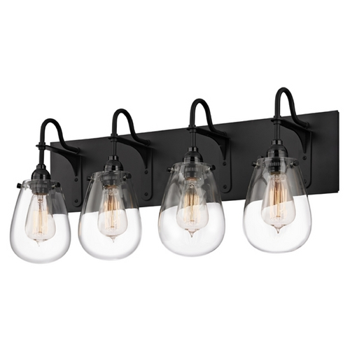 Sonneman Lighting Industrial Bathroom Light Black Chelsea by Sonneman Lighting 4289.25