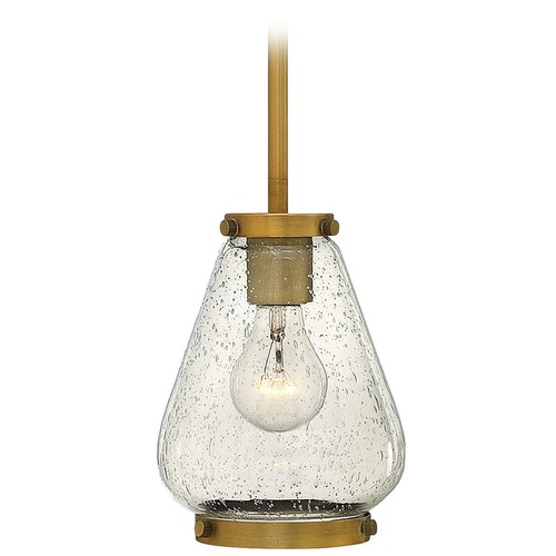 Hinkley Lighting Hinkley Lighting Finley Brushed Bronze Mini-Pendant Light with Urn Shade 3687BR
