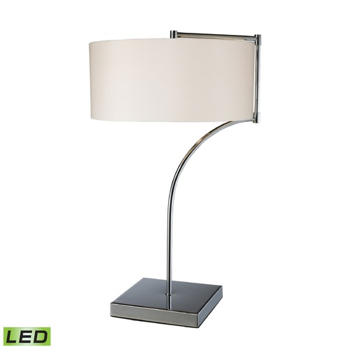 Dimond Lighting Dimond Lighting Chrome LED Table Lamp with Drum Shade D1833-LED