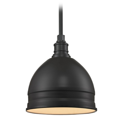 Elk Lighting Elk Lighting Carolton Oil Rubbed Bronze Pendant Light with Bowl / Dome Shade 66862/1