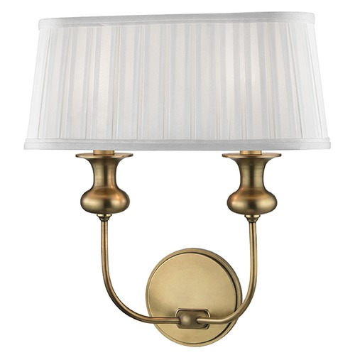 Hudson Valley Lighting Pembroke 2 Light Sconce - Aged Brass 5402-AGB
