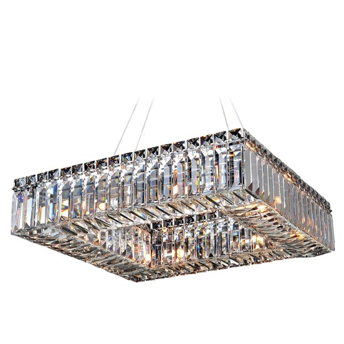 Allegri Lighting Quadro 18in Square Pendant 11710-010-FR001