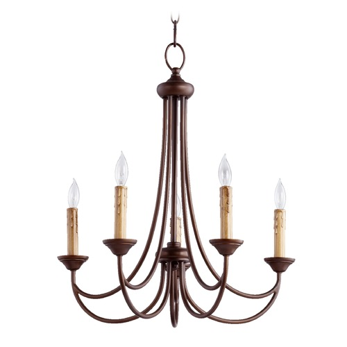 Quorum Lighting Quorum Lighting Brooks Oiled Bronze Chandelier 6250-5-86