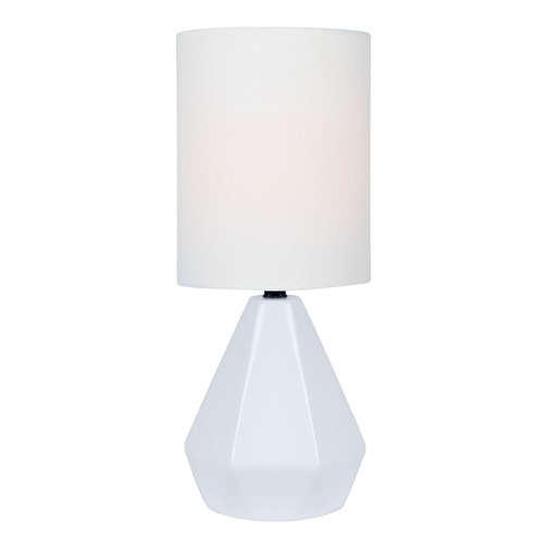 Lite Source Lighting Lite Source Mason White Table Lamp with Cylindrical Shade LS-23204WHT