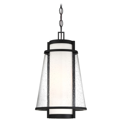 Nuvo Lighting Satco Lighting Anau Matte Black Outdoor Hanging Light 60/6604