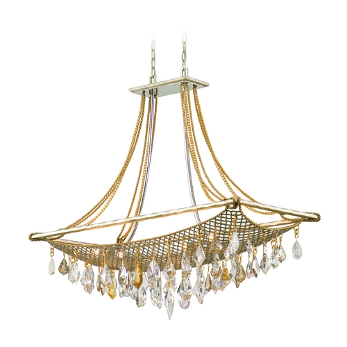 Corbett Lighting Corbett Lighting Barcelona Silver and Gold Leaf Island Light 125-58