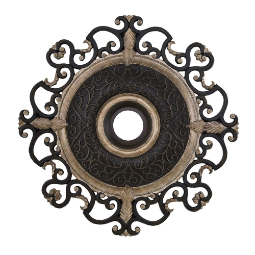 Minka Aire Medallion in Sterling Walnut Finish CM7038-STW