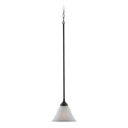 Sea Gull Lighting Mini-Pendant Light with White Glass 61575-782