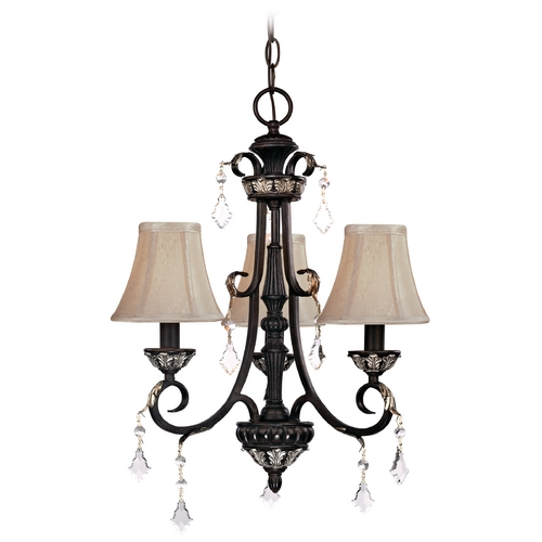 Dolan Designs Lighting Chandelier with Beige / Cream Shades in Phoenix Finish 2101-148