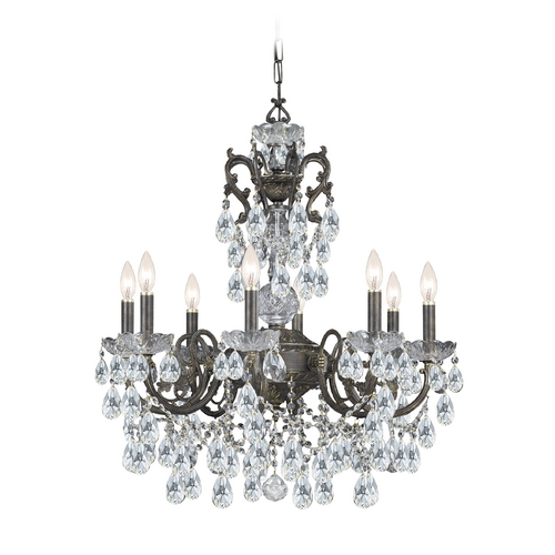 Crystorama Lighting Crystal Chandelier in English Bronze Finish 5198-EB-CL-MWP