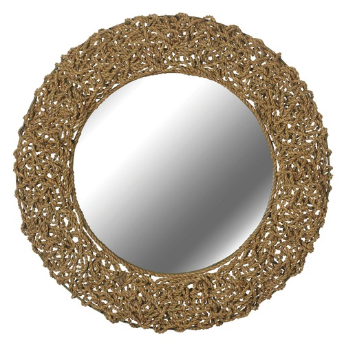 Kenroy Home Lighting Seagrass Round 33-Inch Mirror 60203