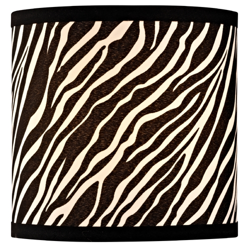 Design Classics Lighting Zebra Drum Lamp Shade with Uno Assembly SH9483