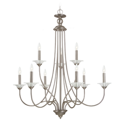 Sea Gull Lighting Chandelier in Antique Brushed Nickel Finish 31319-965