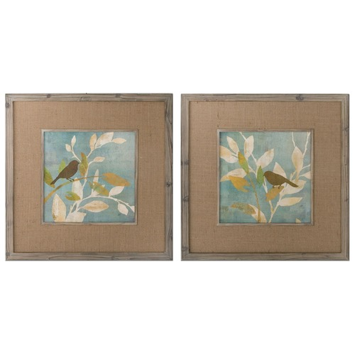 Uttermost Lighting Uttermost Turquoise Bird Silhouettes Framed Art, Set of 2 41395