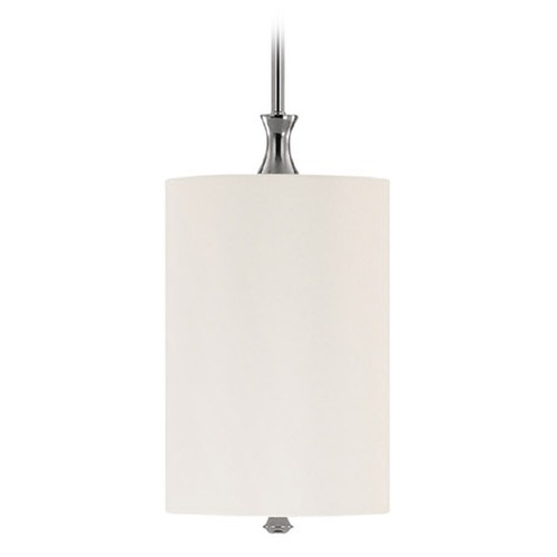 Capital Lighting Capital Lighting Studio Polished Nickel Mini-Pendant Light with Cylindrical Shade 3870PN-492
