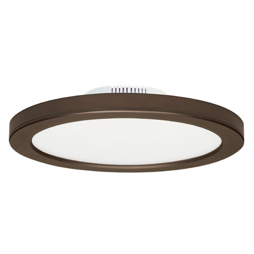 Satco Lighting Satco 9-Inch Round Bronze LED Surface Mount Light 16W 3000K 1300LM S9889