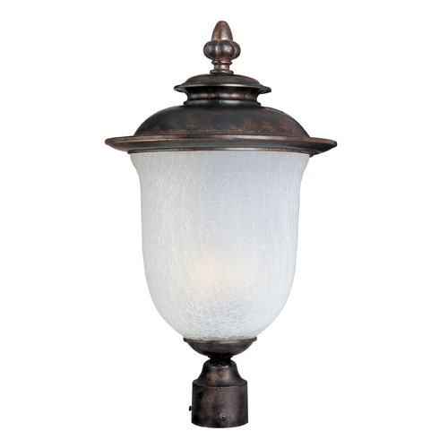 Maxim Lighting Post Light with White Glass in Chocolate Finish 85191FCCH