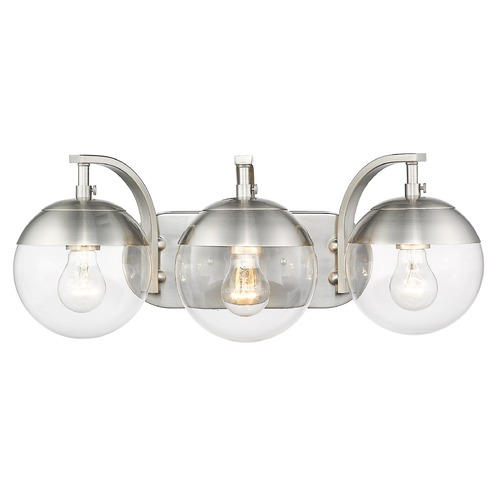 Golden Lighting Golden Lighting Dixon Pewter Bathroom Light 3219-BA3PW-PW