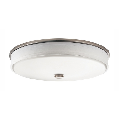 Kichler Lighting Kichler Flushmount Ceiling Light with White Drum Shade 10885NI