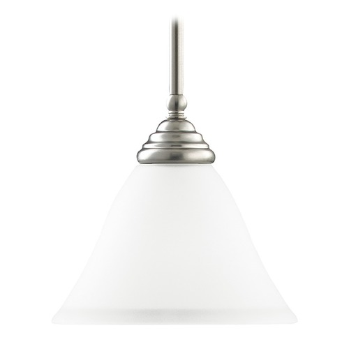 Sea Gull Lighting Mini-Pendant Light with White Glass 61575-962