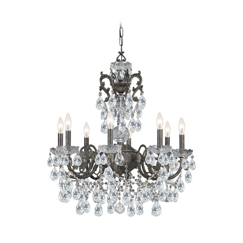 Crystorama Lighting Crystal Chandelier in English Bronze Finish 5198-EB-CL-S