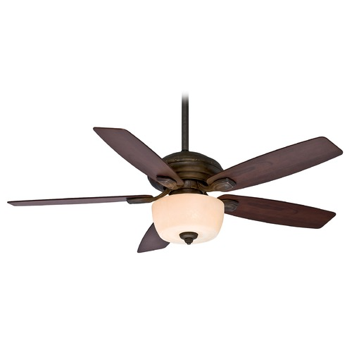 Casablanca Fan Co Casablanca Fan Utopian Gallery Aged Bronze Ceiling Fan with Light 54040