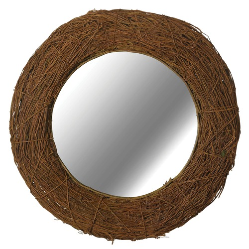 Kenroy Home Lighting Harvest Round 32-Inch Mirror 60204