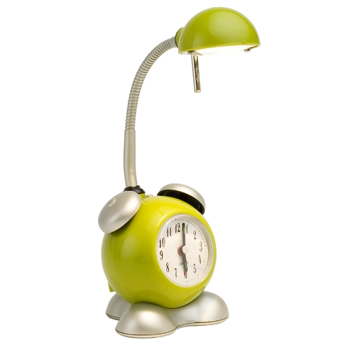 Apple Green Halogen Alarm Clock Table Lamp | Design Classics 2008C APPLE GREEN | Destination Lighting