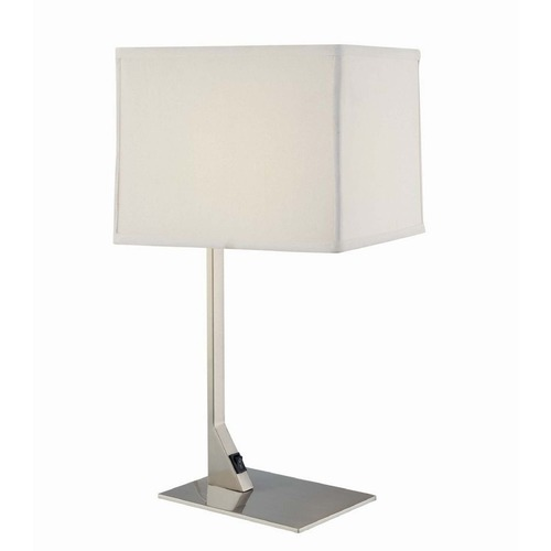 Design Classics Lighting Modern Table Lamp with Shade and LED Bulb 6090-1-09 / SH7354/ 10W LED