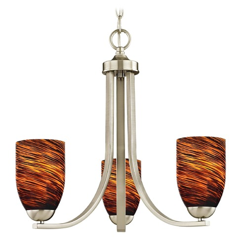 Design Classics Lighting Design Classics Dalton Fuse Satin Nickel Mini-Chandelier 5843-09 GL1023D
