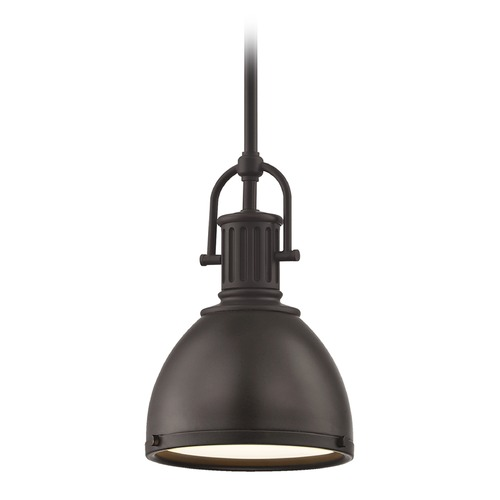 Design Classics Lighting Industrial Bronze Metal Pendant Light 7.38-Inch Wide 1764-220 SH1775-220 R1775-220