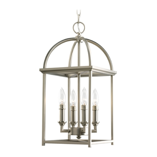 Progress Lighting Progress Mini-Pendant Light in Burnished Silver Finish P3884-126