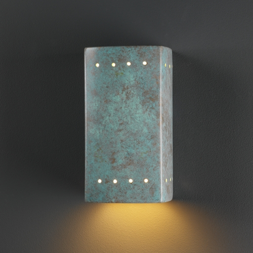 Justice Design Group Sconce Wall Light in Verde Patina Finish CER-0920-PATV