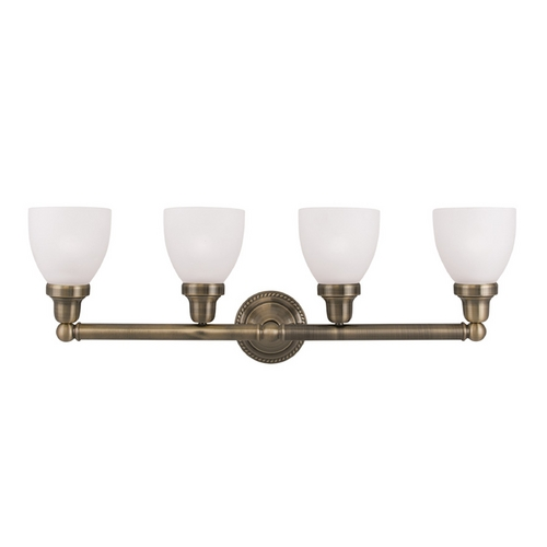 Livex Lighting Livex Lighting Classic Antique Brass Bathroom Light 1024-01