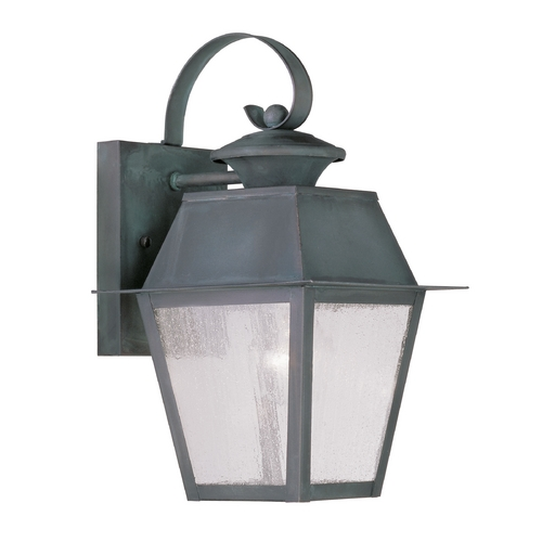 Livex Lighting Seeded Glass Outdoor Wall Light Bronze Livex Lighting 2162-61