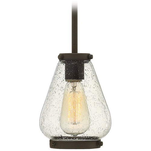 Hinkley Lighting Hinkley Lighting Finley Oil Rubbed Bronze Mini-Pendant Light with Urn Shade 3687OZ
