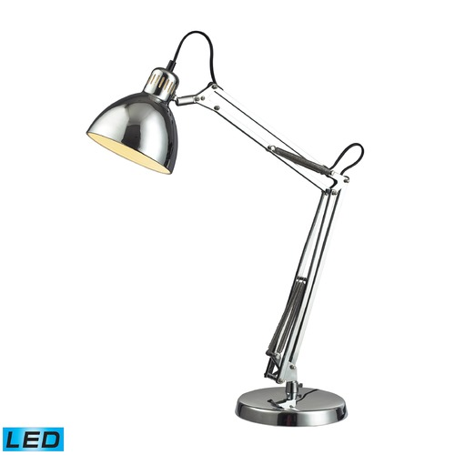 Dimond Lighting Dimond Lighting Chrome LED Desk Lamp D2176-LED