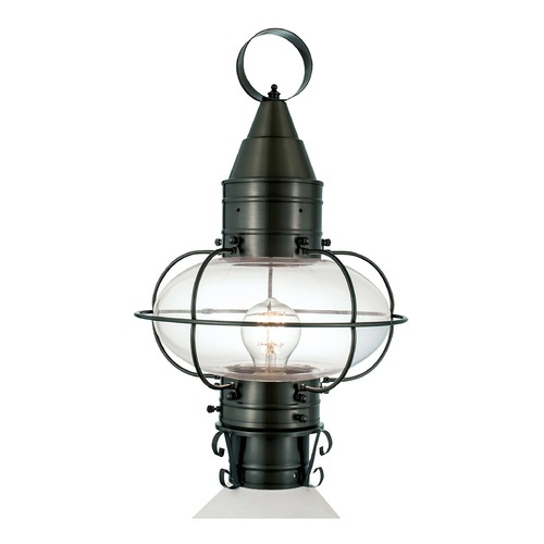 Norwell Lighting Norwell Lighting Classic Onion Gun Metal Post Light 1511-GM-CL