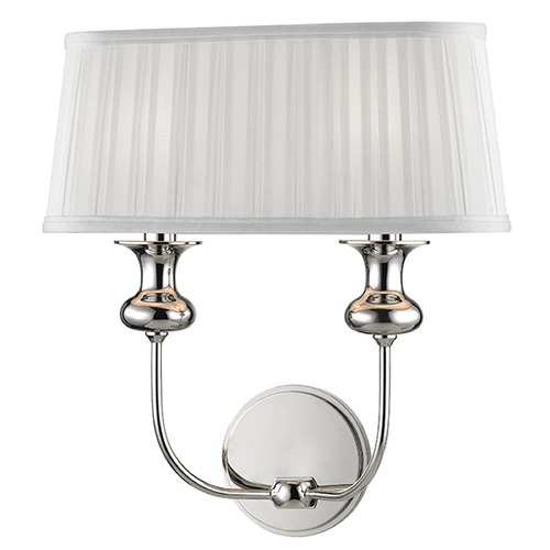Hudson Valley Lighting Pembroke 2 Light Sconce - Polished Nickel 5402-PN