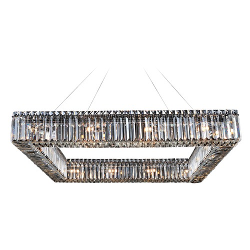 Allegri Lighting Quadro 35in Square Pendant 11712-010-FR001