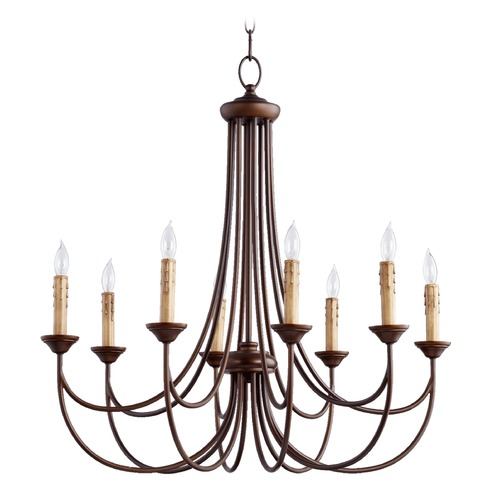 Quorum Lighting Quorum Lighting Brooks Oiled Bronze Chandelier 6250-8-86