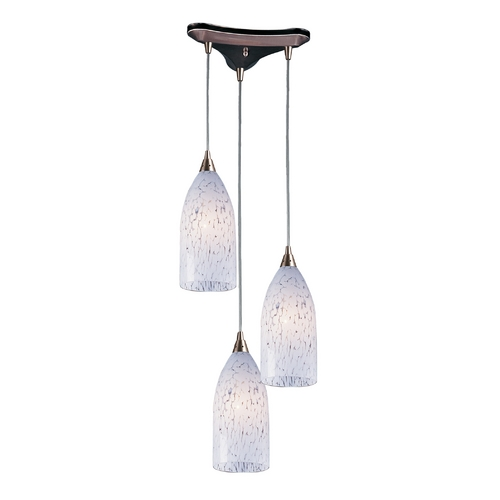 Elk Lighting Modern Multi-Light Pendant Light with Art Glass and 3-Lights 502-3SW