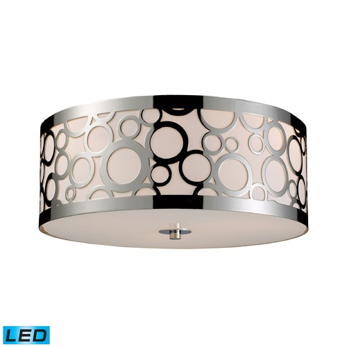 Elk Lighting Elk Lighting Retrovia Polished Nickel LED Flushmount Light 31024/3-LED
