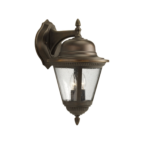 Progress Lighting Progress Outdoor Wall Light with Clear Glass in Antique Bronze Finish P5864-20