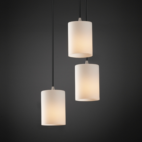 Justice Design Group Justice Design Group Fusion Collection Multi-Light Pendant FSN-8818-10-OPAL-NCKL
