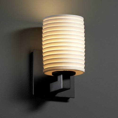 Justice Design Group Justice Design Group Limoges Collection Sconce POR-8921-10-SAWT-MBLK