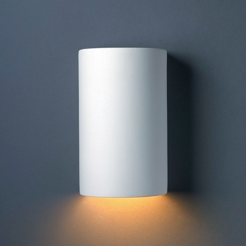 Justice Design Group Sconce Wall Light in Bisque Finish CER-0940-BIS