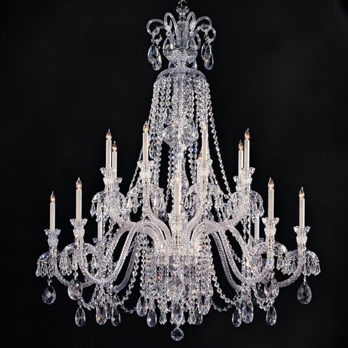Crystorama Lighting Crystorama Lighting Traditional Crystal Polished Chrome Chandelier 5028-CH-CL-MWP